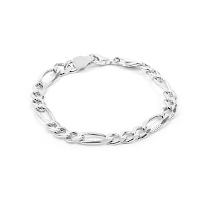 Bracelet figaro argent 925 6.3mm