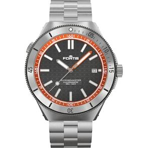 Fortis Marinemaster M-44 Chronometer Amber Orange Block Bracelet