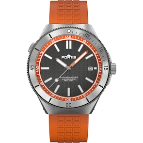 Fortis Marinemaster M-44 Chronometer Amber Orange Horizon Strap