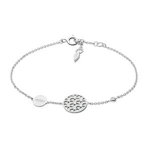Fossil Bracelet Sterling Silver Floral