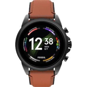 Fossil Gen 6 Smartwatch HR Cuir brun 44