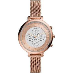 Fossil Monroe Hybrid Smartwatch HR en acier inoxydable doré rose