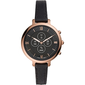 Fossil Monroe Hybrid Smartwatch HR en cuir noir