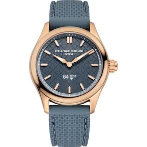 Frédérique Constant Vitality Smartwatch Ladies Rosé / Bleu