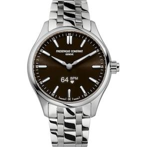 Frédérique Constant Vitality Smartwatch Argenté / Marron