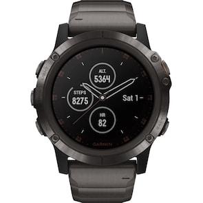 Garmin Fenix 5X Plus Saphir GPS-Multisport Smartwatch HR