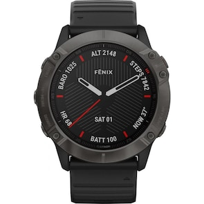 Garmin Fenix 6X Pro Saphir Noir / Marron GPS-Multisport-Smartwatch HR