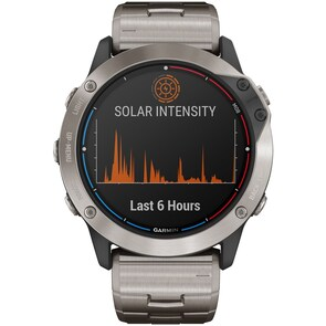 Garmin Quatix 6X Pro Solar Titane avec bracelet en titane