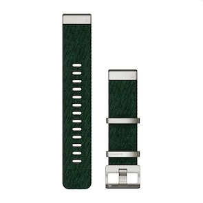 Garmin QuickFit Bracelet en nylon tissé – Vert pin 22mm