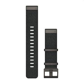 Garmin QuickFit Bracelet en nylon tissé – Noir chiné 22mm