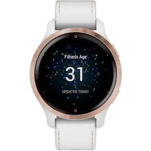 Garmin Venu 2S Smartwatch Cuir blanc