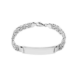 Bracelet royal à graver argent 925 8.0mm