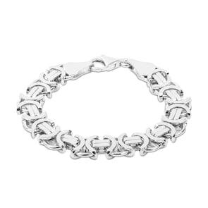 Bracelet chaîne royale plate argent 925 11.20mm