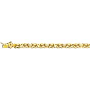 Bracelet chaîne royale classique 750/18 K or jaune massif 4.0mm - 19cm