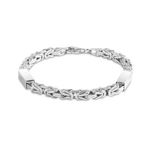 Bracelet chaîne royale carrée argent 925 5.0mm