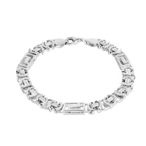 Bracelet chaîne royale plate argent 925 7mm