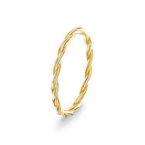 Bague corde 750/18 K or jaune