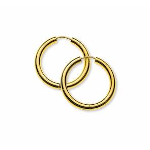 Créoles 750/18 K or jaune Ø 20mm