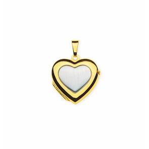 Médaillon pour photo 750/18 K bicolore, Cœur