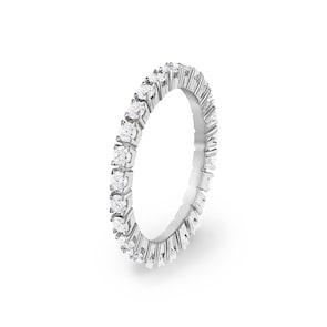 Bague Mémoire 750/18 K or gris avec diamants 1.00 ct H/si
