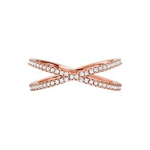Michael Kors Premium Argent 925 Bague pour Femmes MK Custom Kors