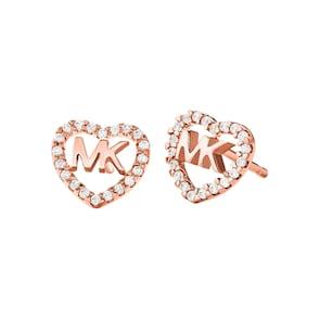 Michael Kors Premium Argent 925 Clous d'oreilles MK Love
