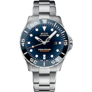 Mido Ocean Star Diver 600 Chronomètre Si Bleu