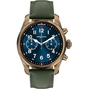 Montblanc Summit 2+ Smartwatch Acier Inoxydable Couleur Bronze et Cuir