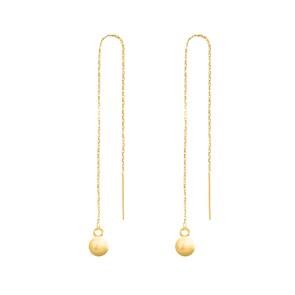 Boucles d'oreilles pendantes 750/18 K or jaune