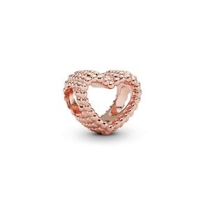 Pandora Rose Moments Charm Cœur Ouvert Perlé