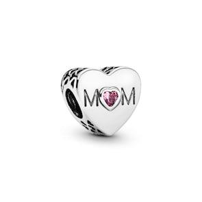 Pandora Moments Charm Cœur de Maman Rose