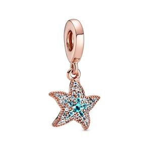 Pandora Rose Moments Charm Pendant Étoile de Mer Scintillant