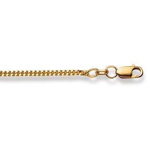 Collier gourmette limée 750/18 K or jaune 2.0mm