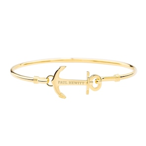 Paul Hewitt Bracelet Anchor Cuff IP Doré