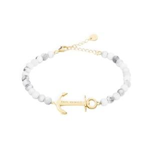 Paul Hewitt Ancre Spirit Bracelet Marble IP Doré