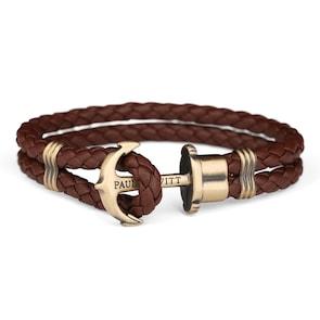 Paul Hewitt Phrep Laiton Ancre Bracelet Cuir Brun