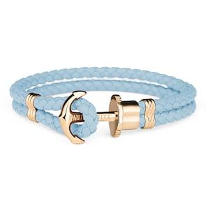 Paul Hewitt Phrep IP Doré Ancre Bracelet Cuir Niagara