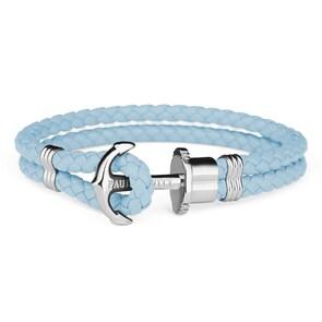 Paul Hewitt Phrep Argenté Ancre Bracelet Cuir Niagara