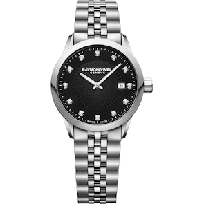 Raymond Weil Freelancer Diamond Argent / Noir Ø 29mm