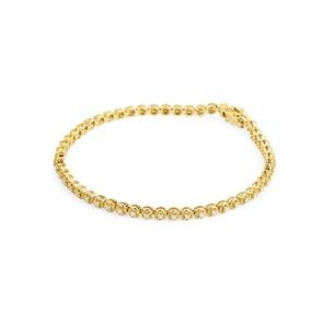 Bracelet rivière 750/18 K or jaune avec diamants 0.51 ct H/si