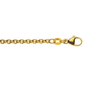 Bracelet forçat ronde 750/18 K or jaune 3.1mm - 19cm