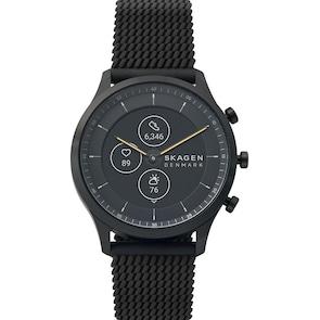 Skagen Jorn 42 Hybrid Smartwatch HR en silicone noir