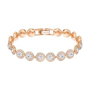 Swarovski Bracelet Angelic, blanc, métal doré rose