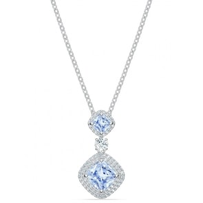 Swarovski Collier Angelic, Bleu, Métal rhodié