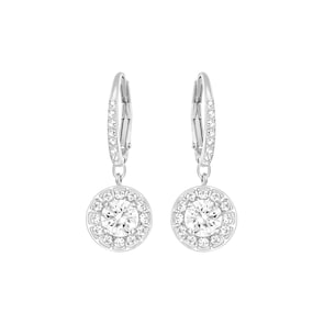 Swarovski Boucles d'oreilles Attract Round, blanc, métal rhodié