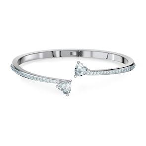 Swarovski Bracelet-jonc Attract Soul, blanc, métal rhodié