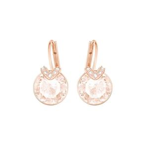 Swarovski Boucles d'oreilles Bella V, métal doré rose