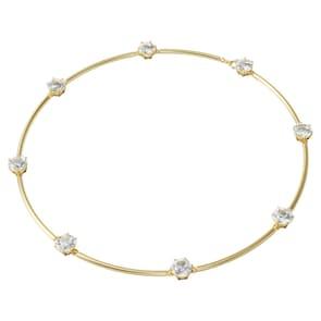 Swarovski Collier Constella, Blanc, Métal doré