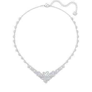 Swarovski Collier Dancing Swan, blanc, métal rhodié