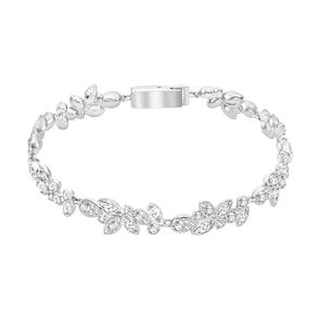 Swarovski Bracelet Diapason, blanc, métal rhodié